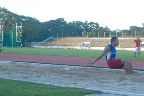Lompat Jauh Bertumpu pada Satu Atlet