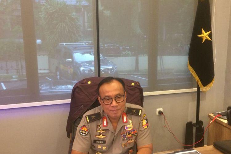Kepala Biro Penerangan Masyarakat Brigjen (Pol) Dedi Prasetyo saat ditemui di Gedung Humas Mabes Polri, Jakarta Selatan, Selasa (27/11/2018).