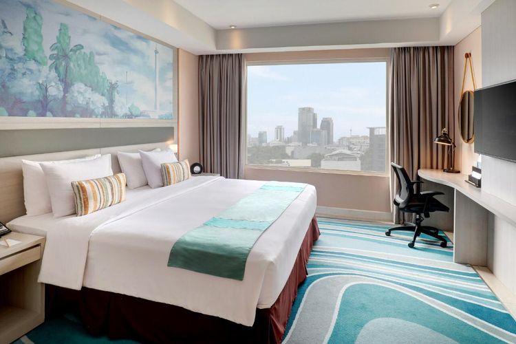 Hotel Mercure Cikini yang akan menjadi akomodasi tambahan untuk tenaga medis tangani Covid-19.