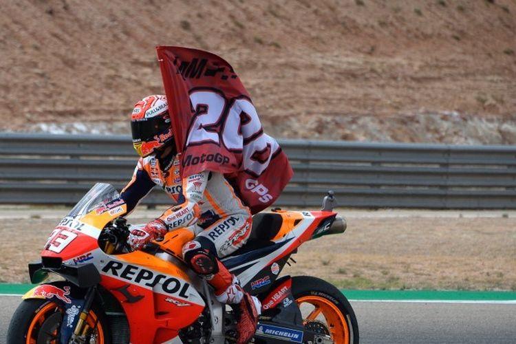 Pebalap Repsol Honda Team asal Spanyol, Marc Marquez.