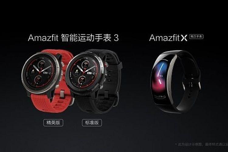 Ilustrasi Amazfit Smart Sports Watch 3 dan Amazfit X