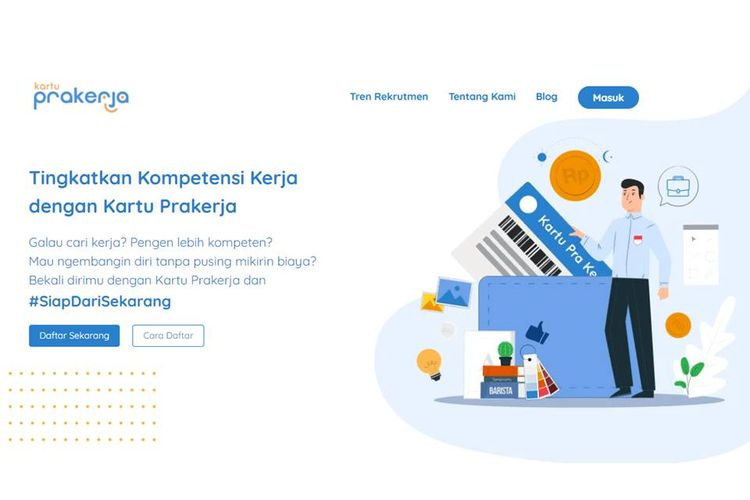 Tangkapan layar laman prakerja.go.id