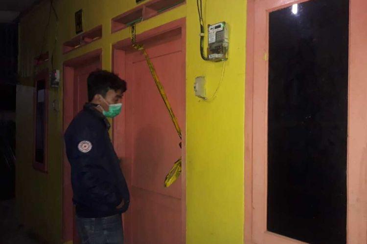 TKP pembunuhan Mahasiswa Universitas Telkom, Fathan Ardian Nurmiftah di Dusun Cilalung, Desa Mekarjaya, Kecamatan Purwasari, Karawang.