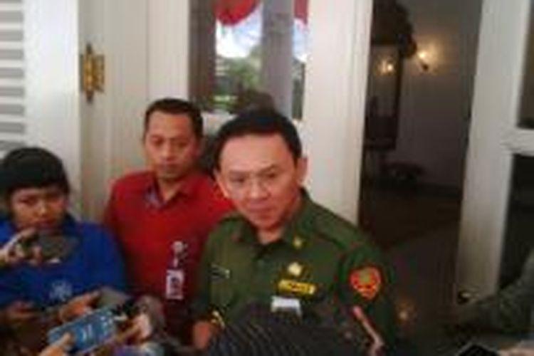 Gubernur DKI Jakarta Basuki Tjahaja Purnama, di Balai Kota, Senin (31/8/2015).