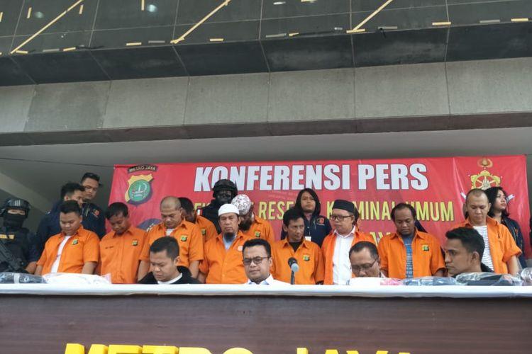 Konferensi pers pengungkapan kasus penganiayaan terhadap Ninoy Karundeng di Polda Metro Jaya, Jakarta Selatan, Selasa (22/10/2019).