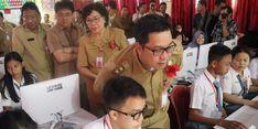 Lewat Video Conference, Wagub Kandouw Buka UNBK SMK se-Sulut