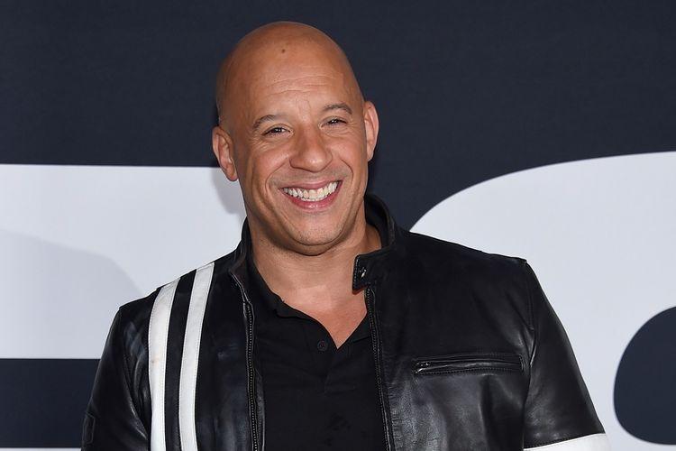 Aktor Vin Diesel menghadiri permutaran perdana film The Fate Of The Furious di New York, yang digelar di Radio City Music Hall pada 8 April 2017.