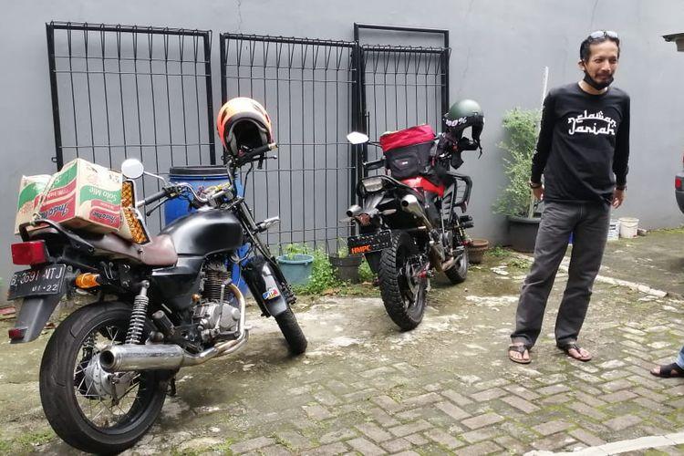 Komunitas motor Honda MegaPro Club (HMPC) Jakarta berdonasi di tengah pandemi