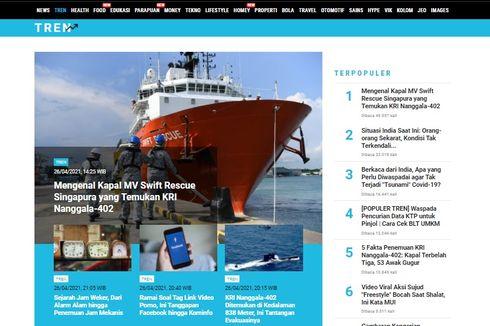 [POPULER TREN] Mengenal Kapal MV Smift, Rescue Singapura yang Temukan KRI Nanggala   Kondisi Tak Terkendali di India akibat Covid-19
