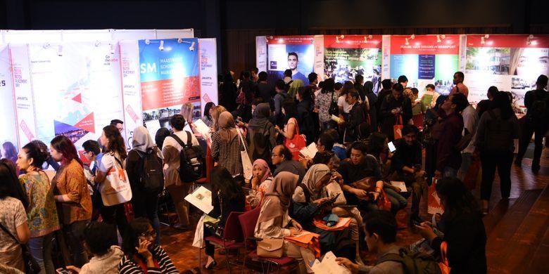 Nuffic Neso Indonesia memboyong 22 universitas riset dan universitas ilmu terapan Belanda untuk bertemu dengan pelajar Jakarta di Dutch Placement Day (DPD) di Erasmus Huis, Kuningan, Jumat (1/11/2019).