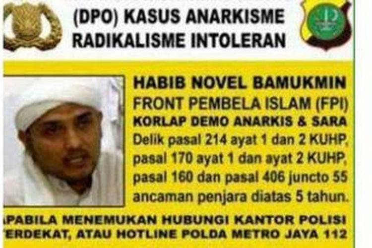 Foto Habib Novel yang disebar polisi.