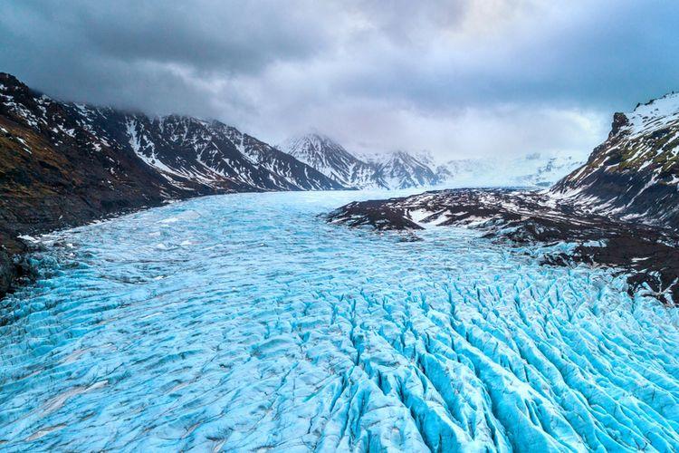 Gletser Svínafellsjökull