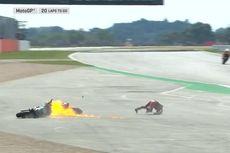 Insiden MotoGP Inggris, Tak Disalahkan Dovi, Quartararo Salahkan Rins