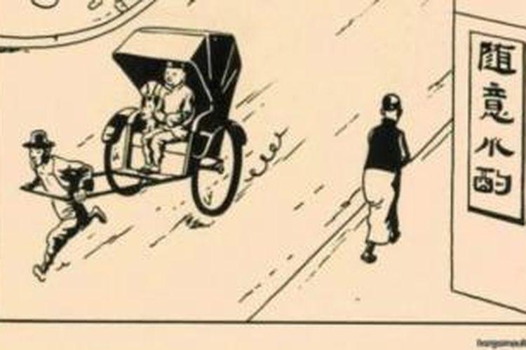 Gambar langka komik Tintin laku Rp 17 miliar.