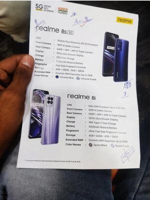 Bocoran foto ungkap spesifikasi resmi dari Realme 8s dan Realme 8i