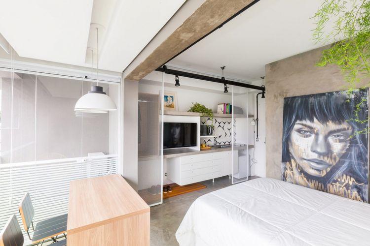 Apartemen studio mungil di Sao Paolo