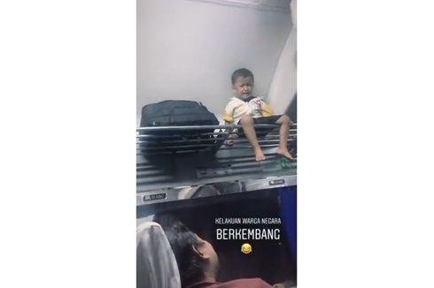 Viral Anak Kecil Duduk di Atas Rak Bagasi Gerbong Kereta, Ini Cerita Lengkapnya