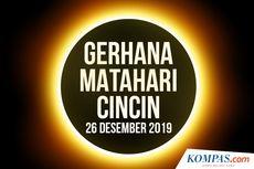 Gerhana Matahari Cincin Lintasi 5 Wilayah di Riau, di Siak Terlihat Penuh