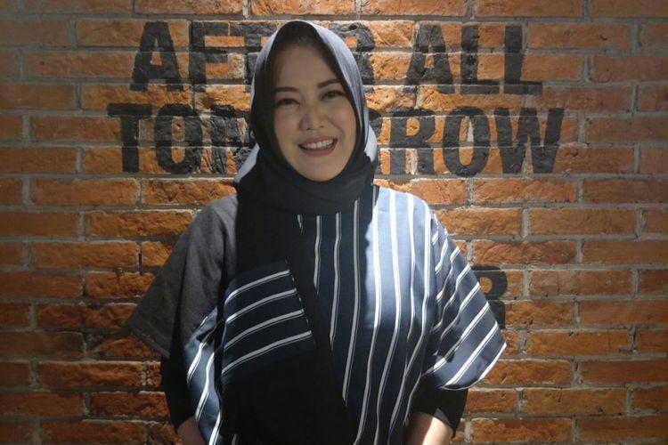 Risa Saraswati hadir dalam jumpa pers dan screening film Silam di CGV Grand Indonesia, Jalan MH Thamrin, Jakarta Pusat, Selasa (4/12/2018).