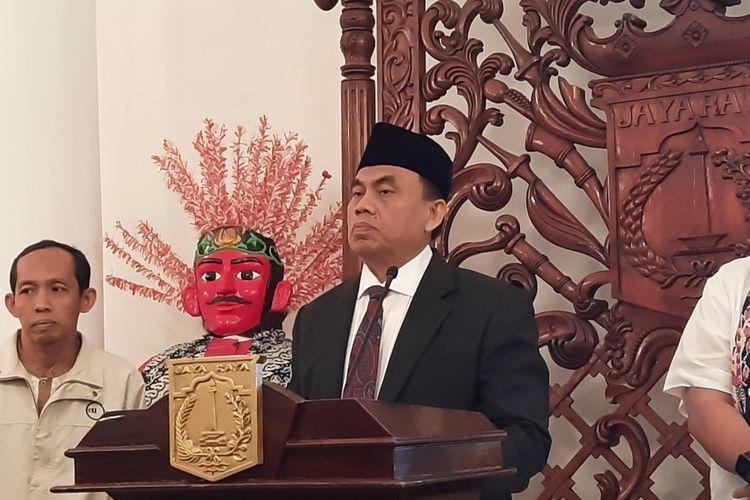 Sekretaris Daerah DKI Jakarta Saefullah, di Balairung, Balai Kota, Jakarta Pusat, Jumat (24/1/2020)
