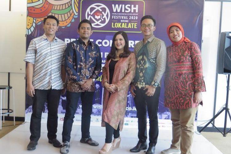 Pembukaan World Indonesia Scholarship Festival (WISH) 2020 bersama Lokalate di WeWork Menara Astra, Jakarta Pusat.