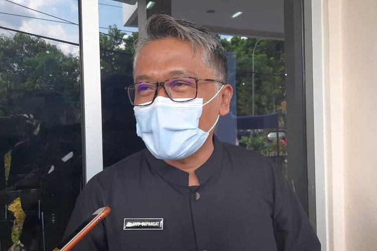 Kepala Dinas Kesehatan Kota Tasikmalaya, Uus Supangat, saat dimintai keterangan wartawan, Selasa (6/10/2020).