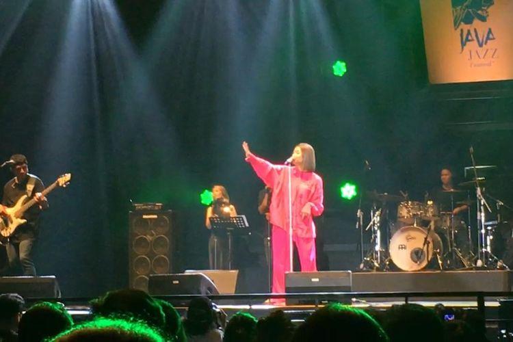 Marion Jola saat tampil di Java Jazz Festival 2020 di JIEXPO Kemayoran, Jakarta Pusat, Jumat (28/2/2020).