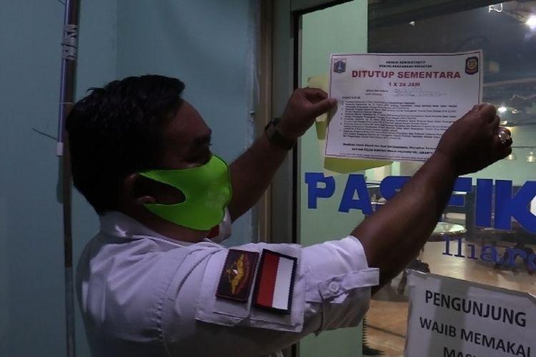 Tempat hiburan di Pulogadung ditutup sementara karena melanggar protokol Covid-19.