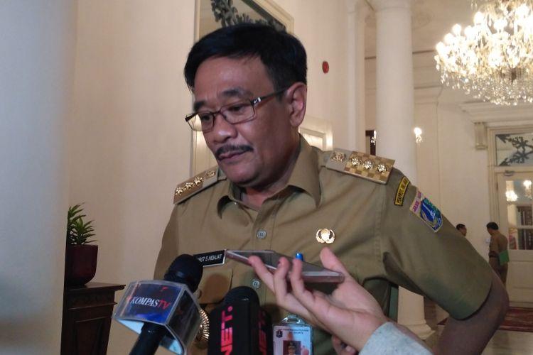 Gubernur DKI Jakarta Djarot Saiful Hidayat di Balai Kota DKI Jakarta, Jalan Medan Merdeka Selatan, Senin (19/6/2017).