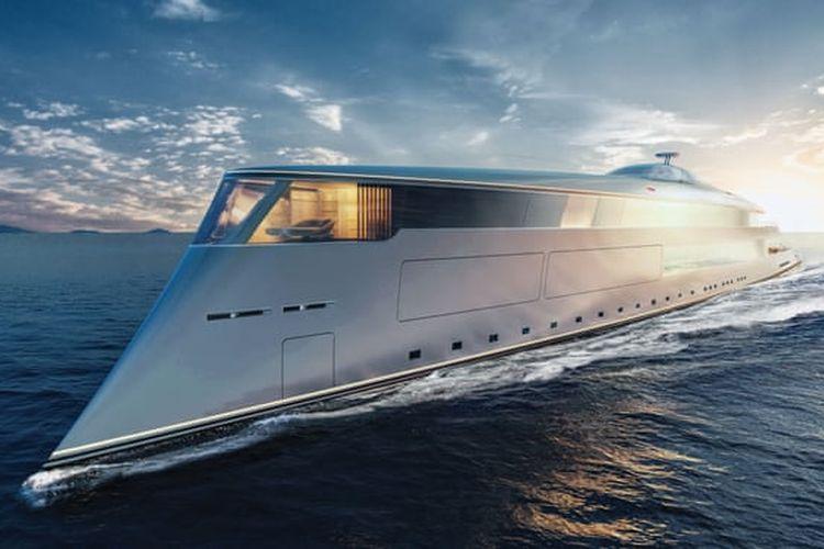 Super yacht The Aqua yang menggunakan tenaga hidrogen cair
