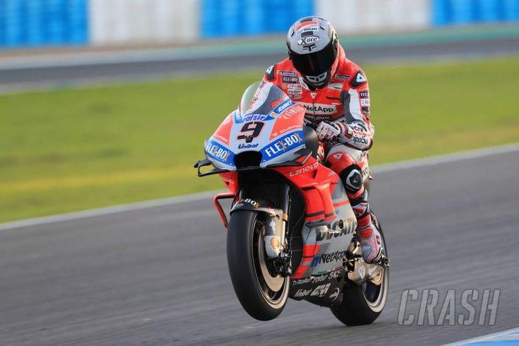 Pebalap Ducati, Danilo Petrucci, menjadi yang tercepat pada sesi tes pramusim MotoGP 2019 di Sirkuit Jerez, Spanyol, Rabu (28/11/2018).