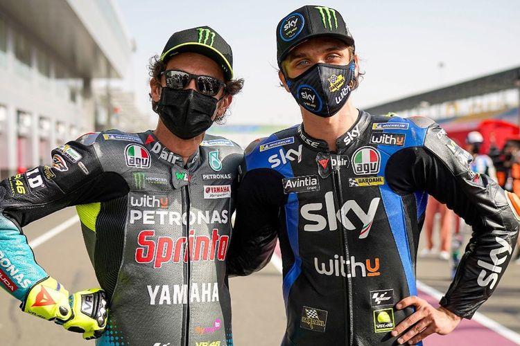 Valentino Rossi dan Luca Marini, kakak beradik dalam kelas yang sama