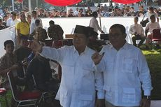 Celup Jempol dan Telunjuk ke Tinta, Prabowo Acungkan Dua Jari Seusai Nyoblos