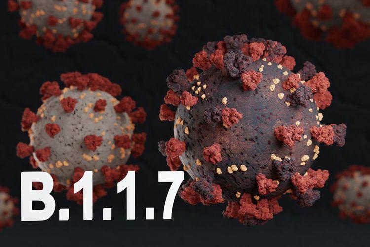 Ilustrasi varian baru virus corona B.1.1.7