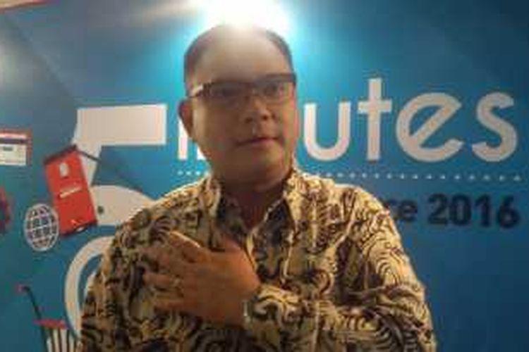 Ketua Umum Asosiasi E-commerce Indonesia (idEA) Daniel Tumiwa usai diskusi