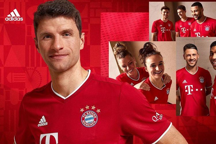 Jersey kandang terbaru Bayern Muenchen untuk musim 2020-2021