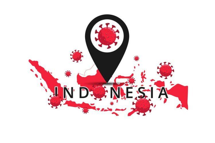 Ilustrasi virus corona yang merebak di Indonesia.