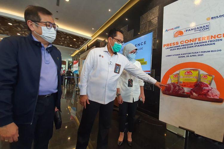 Direktur Utama Perum BULOG Budi Waseso saat peluncuran, Senin (26/4/2021).