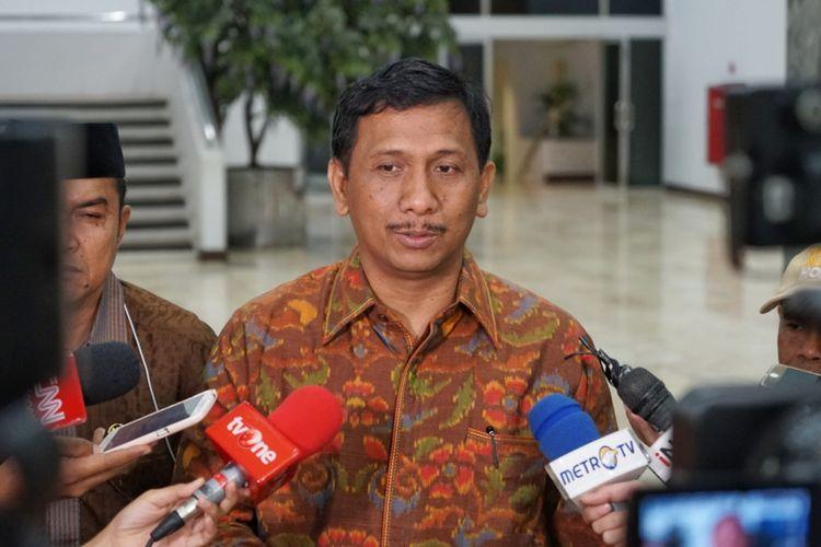 Ketua Panitia Perancang Undang-Undang (PPUU) DPD I Wayan Gede Pasek Suardika saat ditemui di Kompleks Parlemen, Senayan, Jakarta, Kamis (31/5/2018).