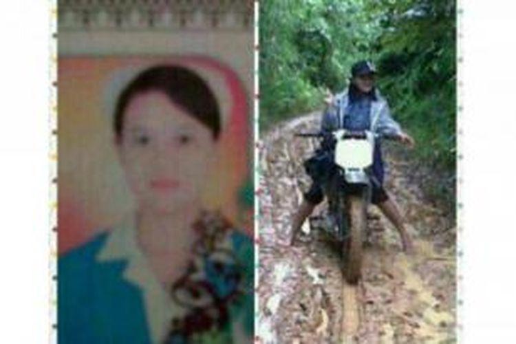Inilah sosok Anik Setya Indah, seorang bidan asal Semarang yang bertugas di pedalaman Kalimantan Barat. Foto ini diambil dari akun Facebook almarhumah.