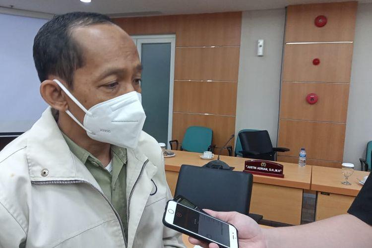 Kepala Dinas Cipta Karya, Tata Ruang, dan Pertanahan DKI Jakarta Heru Hermawanto di Gedung DPRD DKI Jakarta, Senin (12/4/2021).