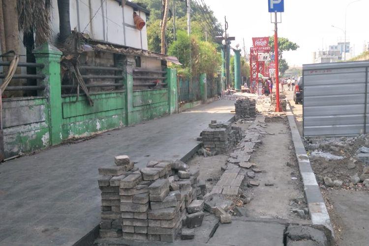 Kondisi Jalan Kramat Raya, Senen, Jakarta Pusat, Selasa (10/9/2019).