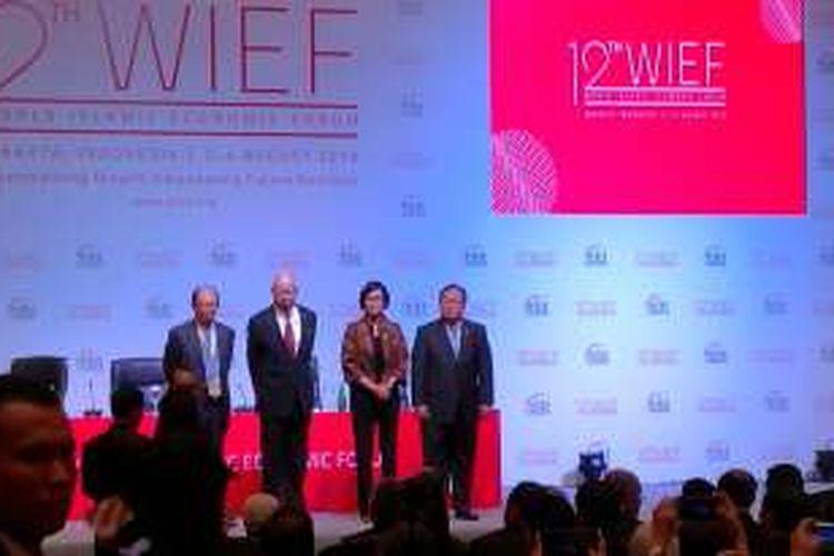 Menteri Keuangan Sri Mulyani di acara World Islamic Economic Forum (WIEF) 2016 di Jakarta