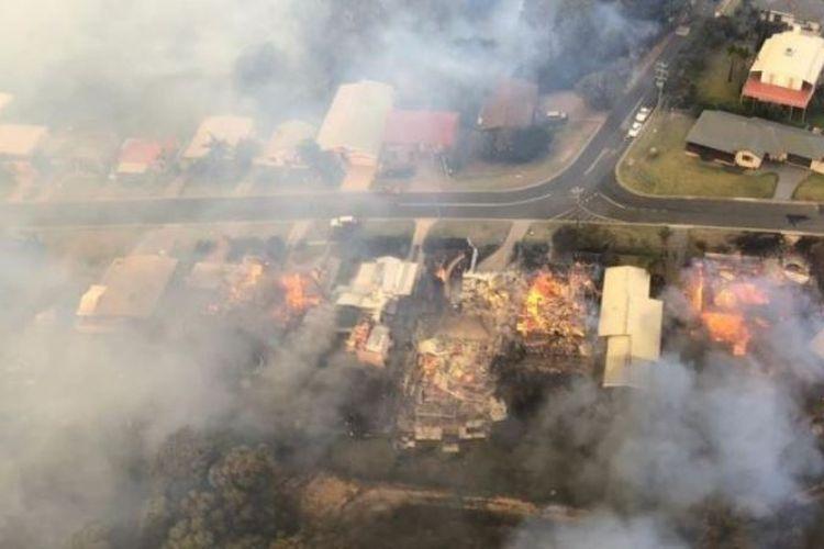 Situasi kebakaran di daerah Tathra, New South Wales, Minggu (19/3/2018). (Instagram/staceyleecullen via Australia Plus)