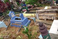 70 Makam di TPU Damanhuri Samarinda Rusak Diterjang Longsor