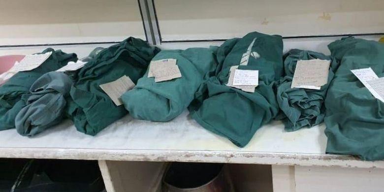 Seorang dokter mencuitkan tentang jasad tujuh bayi yang dibungkus kain hijau.