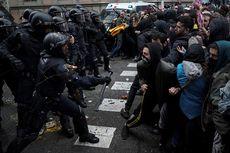 Puigdemont Ditangkap, Ribuan Warga Bentrok dengan Polisi di Barcelona