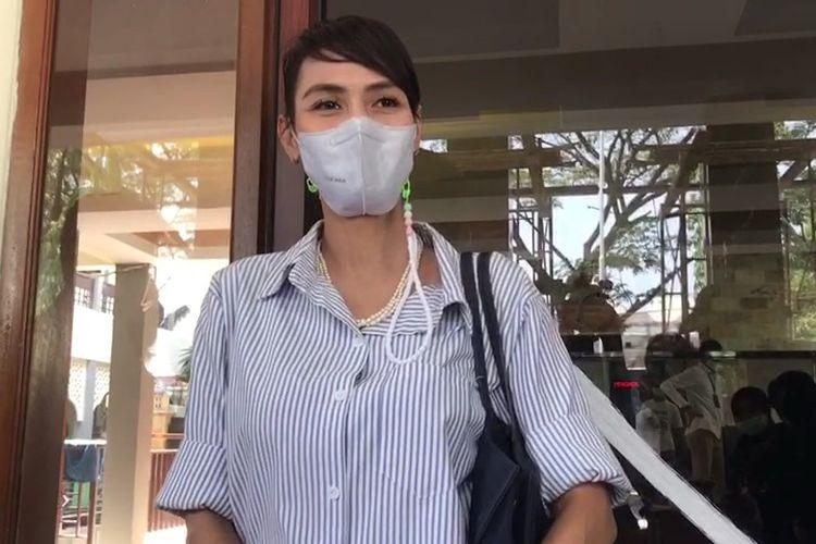 Wenny Ariani saat ditemui wartawan di Pengadilan Tangerang, Rabu (28/7/2021).