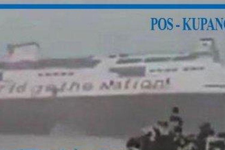 Detik-detik KMP Jatra 1 tenggelam di Pelabuhan Bolok, Kupang