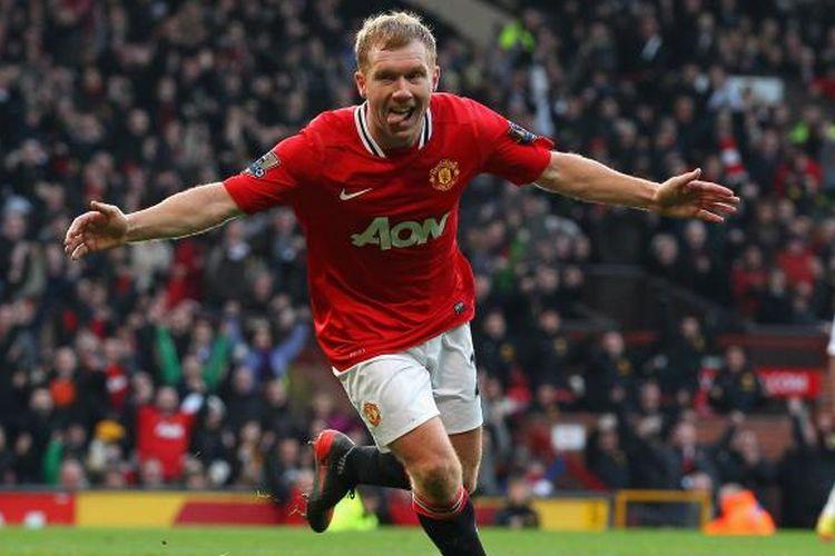 Mantan gelandang Manchester United, Paul Scholes, semasa masih bermain.
